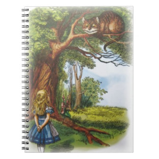 Alice and the Cheshire Cat Spiral Notebook