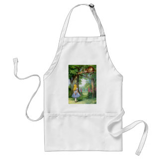 ALICE AND THE CHESHIRE CAT STANDARD APRON