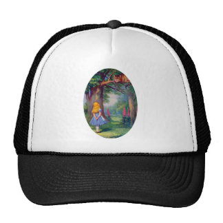 Alice and the Cheshire Cat Trucker Hats