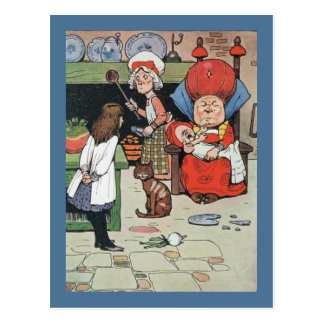 Alice and The Cook Postcard