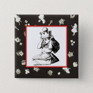 Alice and the Crown 2 15 Cm Square Badge