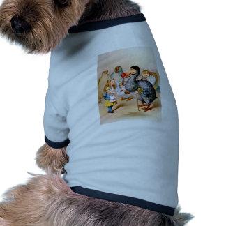 Alice and the Dodo Bird Dog T Shirt