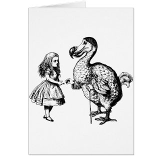 Alice and the Dodo Inked Black Card