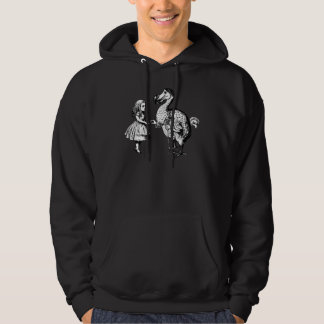 Alice and the Dodo Inked Black Hoodie
