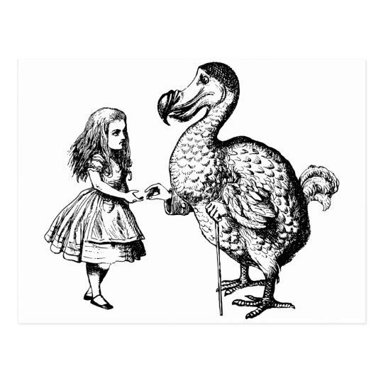 Alice and the Dodo Postcard