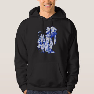 Alice and the Duchess Inked Blue Hoodie