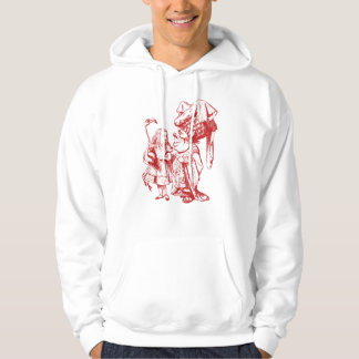 Alice and the Duchess Inked Red Hoodie