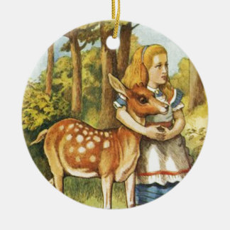 Alice and the Fawn Ceramic Ornament