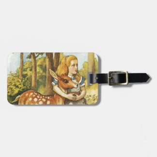 Alice and the Fawn Luggage Tag
