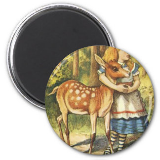 Alice and the Fawn Magnet