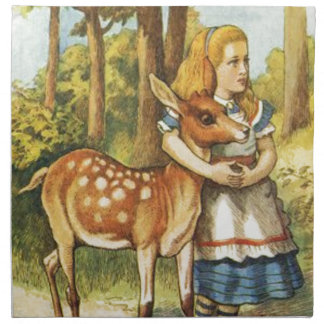Alice and the Fawn Napkin