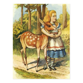 Alice and the Fawn Postcard