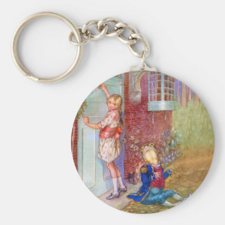 Alice and The Frog Footman At The Duchess' Doorway Key Ring