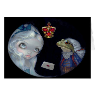 """""""Alice and the Frog Footman"""" Greeting Card"""