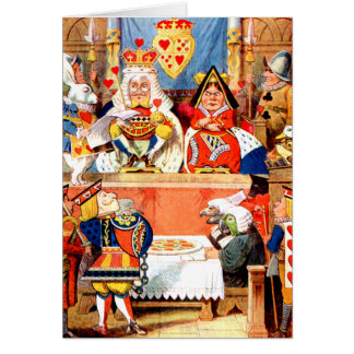 Alice and The Knave of Hearts Trial in Wonderland Greeting Cards