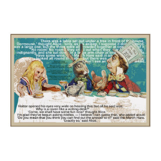 Alice and the Mad Hatter's Tea party Acrylic Print