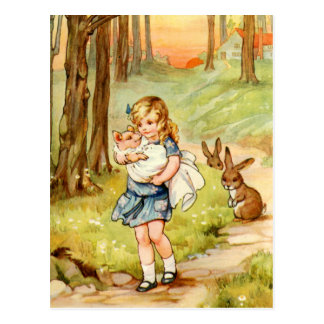 Alice and the Pig Baby in Wonderland Post Card