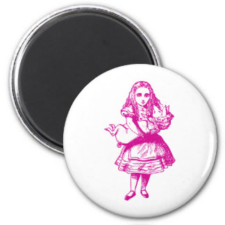 Alice and the Pig Baby Pink 6 Cm Round Magnet