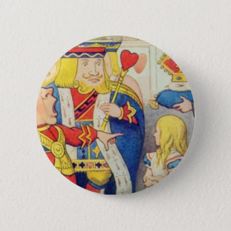 Alice and the Queen of Hearts 6 Cm Round Badge