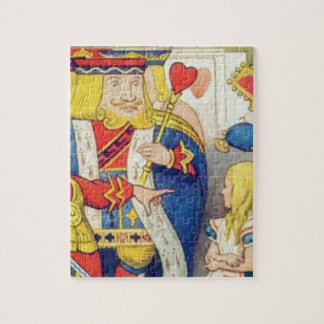 Alice and the Queen of Hearts Jigsaw Puzzle