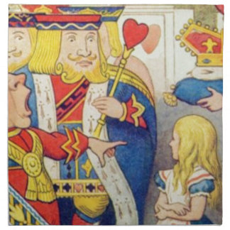 Alice and the Queen of Hearts Napkin
