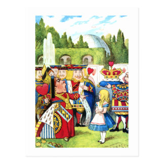ALICE AND THE QUEEN OF HEARTS POSTCARD