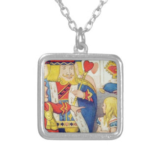 Alice and the Queen of Hearts Silver Plated Necklace
