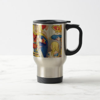 Alice and the Queen of Hearts Travel Mug