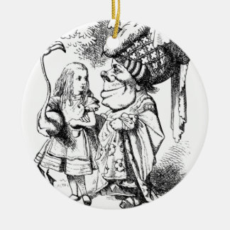Alice and the Red Queen Ceramic Ornament