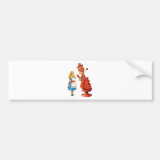 Alice and the Red Queen in Wonderland Bumper Stickers
