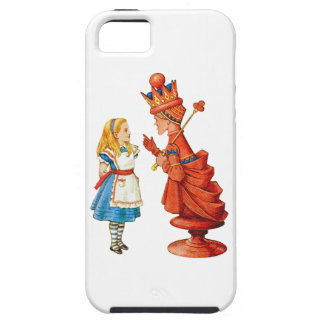 Alice and the Red Queen in Wonderland iPhone 5 Covers
