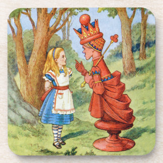 Alice and the Red Queen in Wonderland Drink Coasters
