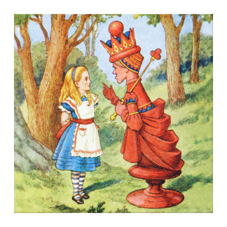 Alice and the Red Queen in Wonderland Gallery Wrap Canvas