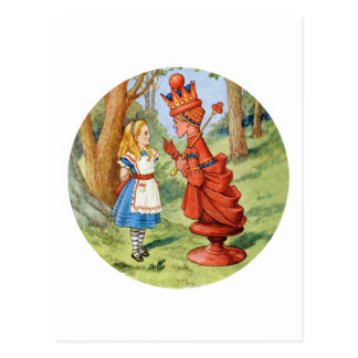 Alice and the Red Queen in Wonderland Postcard