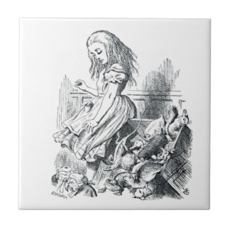 Alice and the Squirrels Ceramic Tile