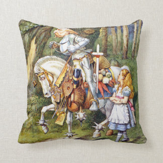 Alice and The White Knight in Wonderland Cushion