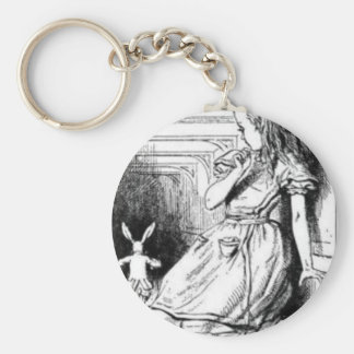 Alice and the White Rabbit Key Ring