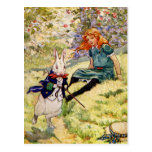 ALICE AND THE WHITE RABBIT POST CARDS