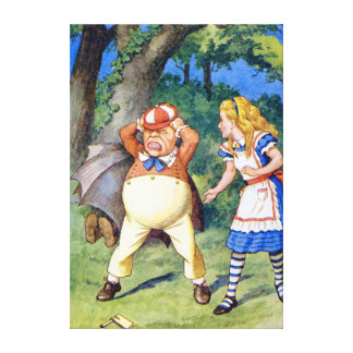 Alice and Tweedledum in Wonderland Canvas Print