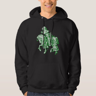 Alice and White Knight Inked Green Hoodie