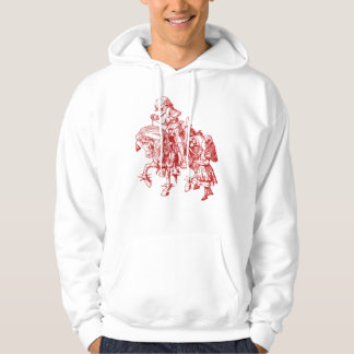 Alice and White Knight Inked Red Hoodie