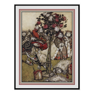 Alice and Wonderland - Arthur Rackham Poster