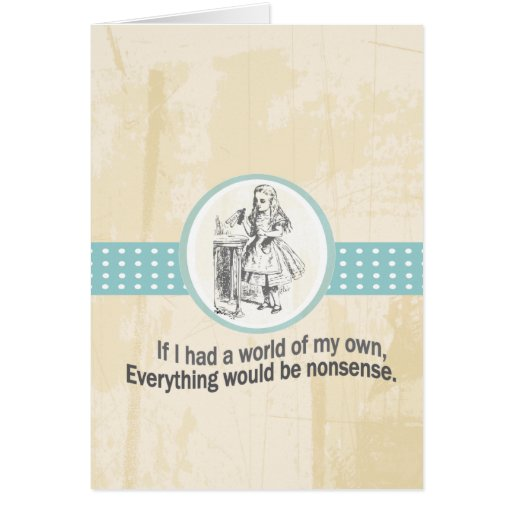 Alice and Wonderland Gifts Greeting Cards