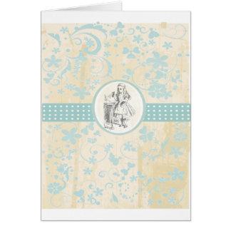 Alice and Wonderland Vintage Gifts Card