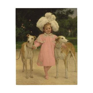 Alice Antoinette de la Mar, aged five Wood Canvas
