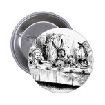 Alice at the Mad Tea Party Pinback Button
