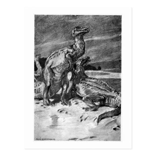 Alice B. Woodward: Iguanodonts art postcard