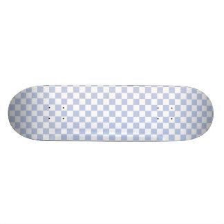 Alice Blue Checkerboard in English Country Garden Skate Board Deck