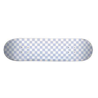 Alice Blue Checkerboard in English Country Garden Skate Deck