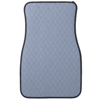 Alice Blue Diamond Quilted Stitched Pattern Car Mat